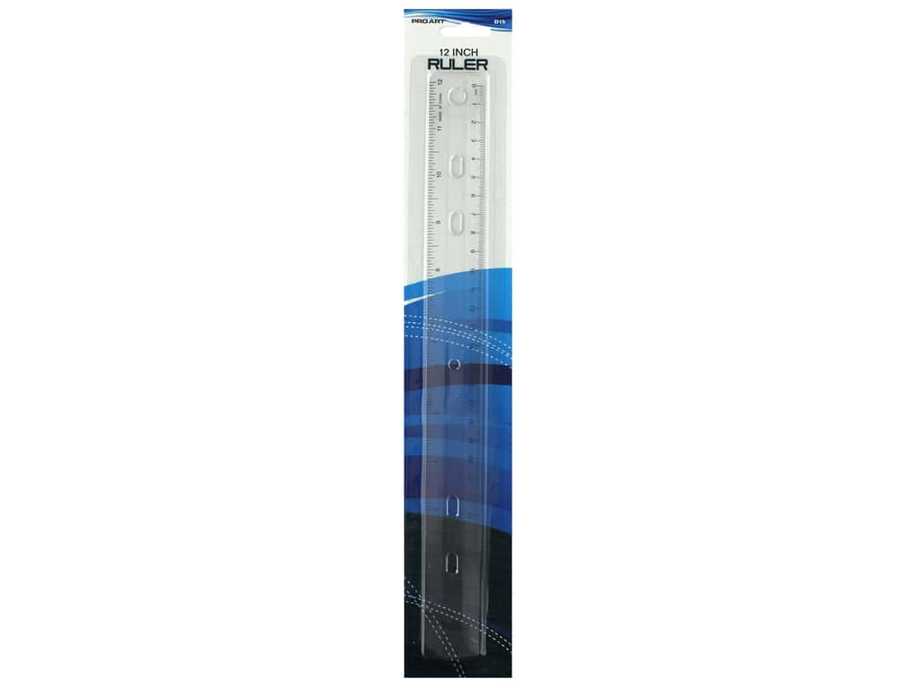 Pro Art Drafting Ruler Plastic 12 in.