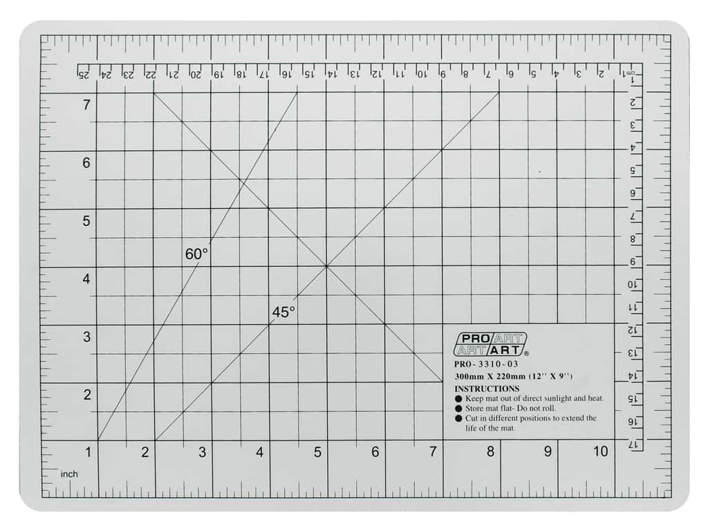 "Pro Art Cutting Mat Graphic 8.5'""x 1.5"" Translucent White"