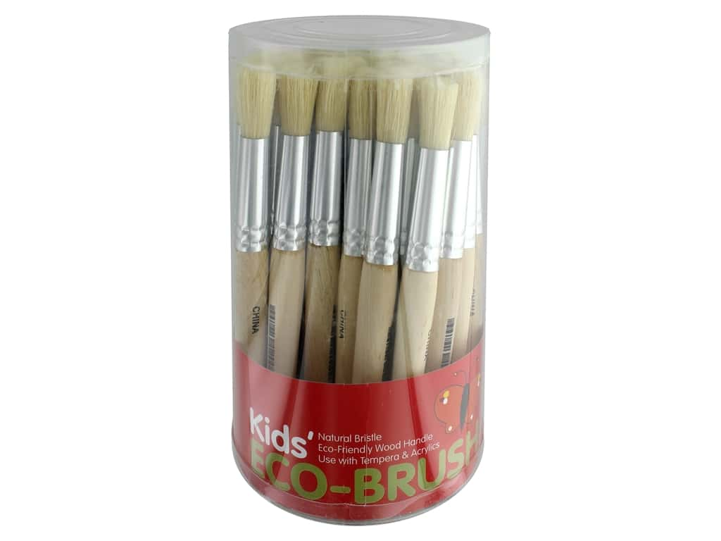 Art Advantage Kids' Eco-Brush 36 pc. Stubby Round