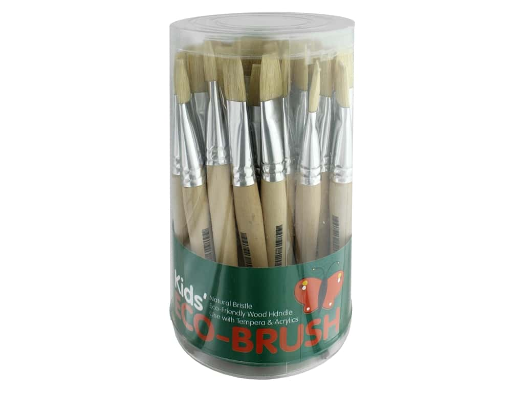 Art Advantage Kids' Eco-Brush 36 pc. Stubby Flat