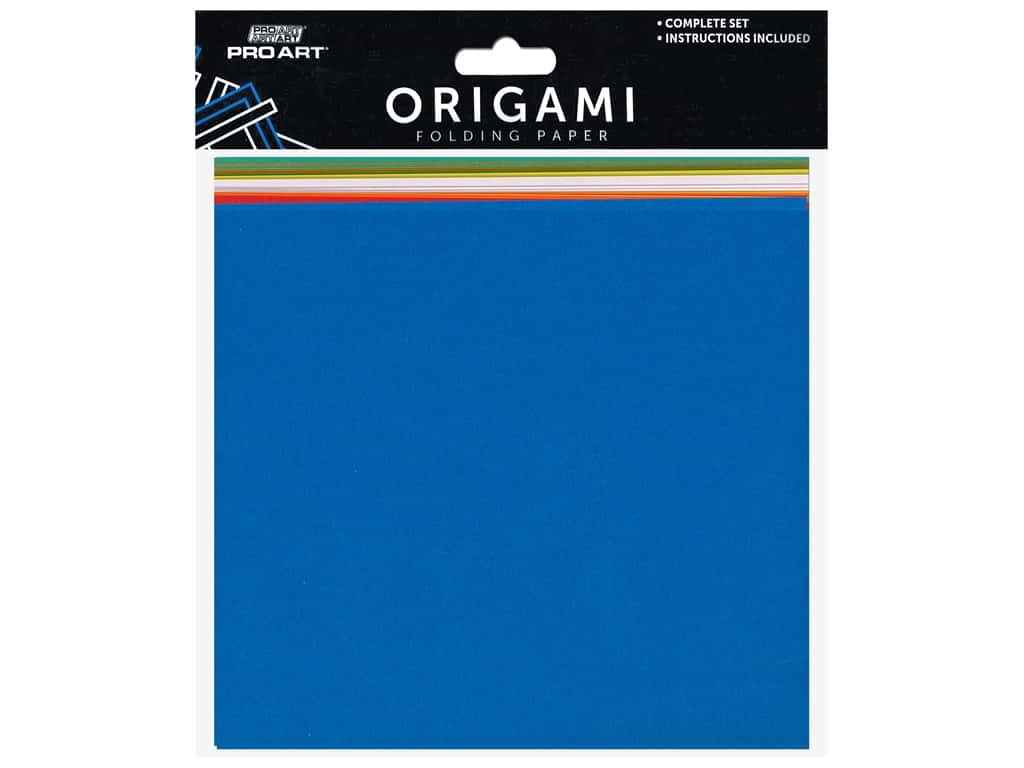 Pro Art Origami Paper 5.88 in. Square Assorted 100 pc