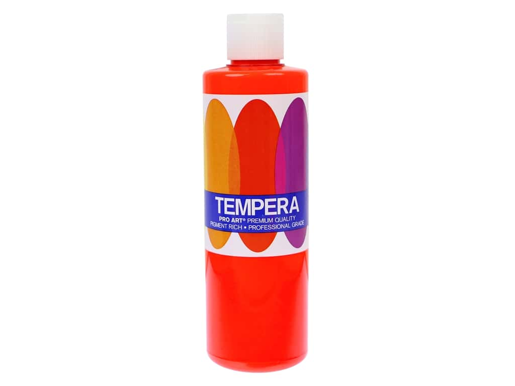 Pro Art Liquid Tempera Paint 8 oz. Fluorescent Red