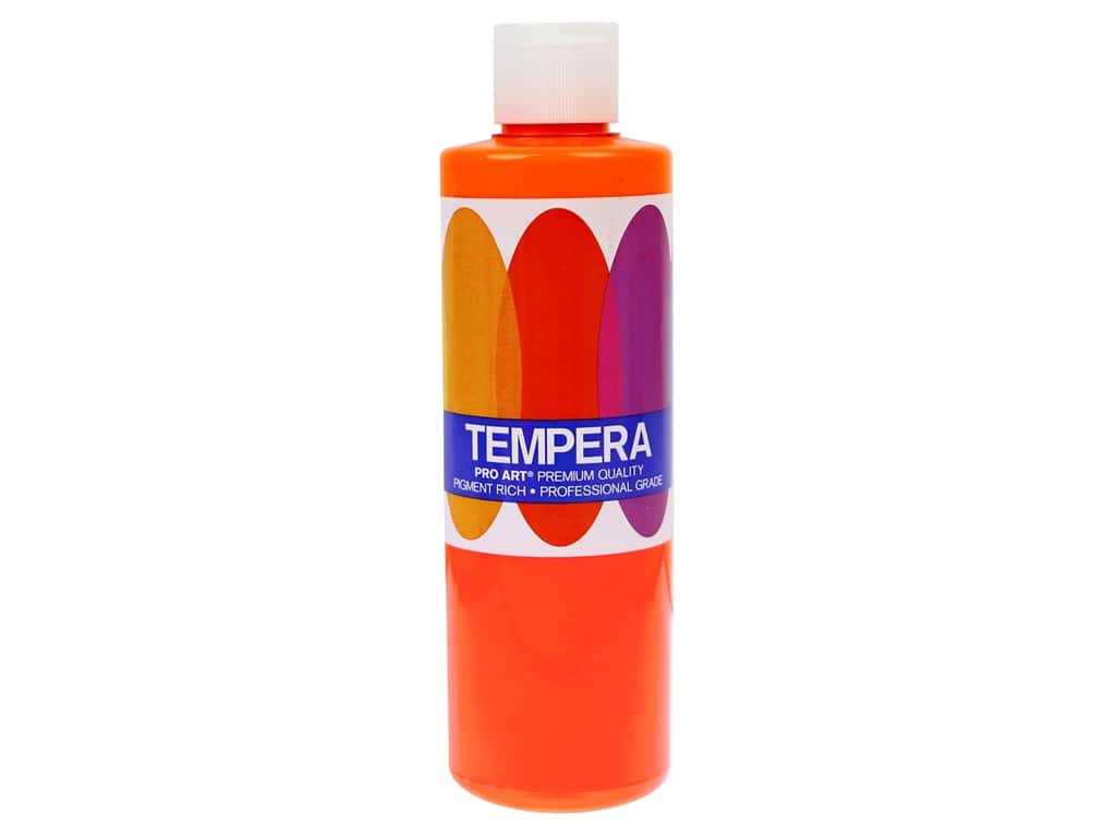 Pro Art Liquid Tempera Paint 8 oz. Fluorescent Orange
