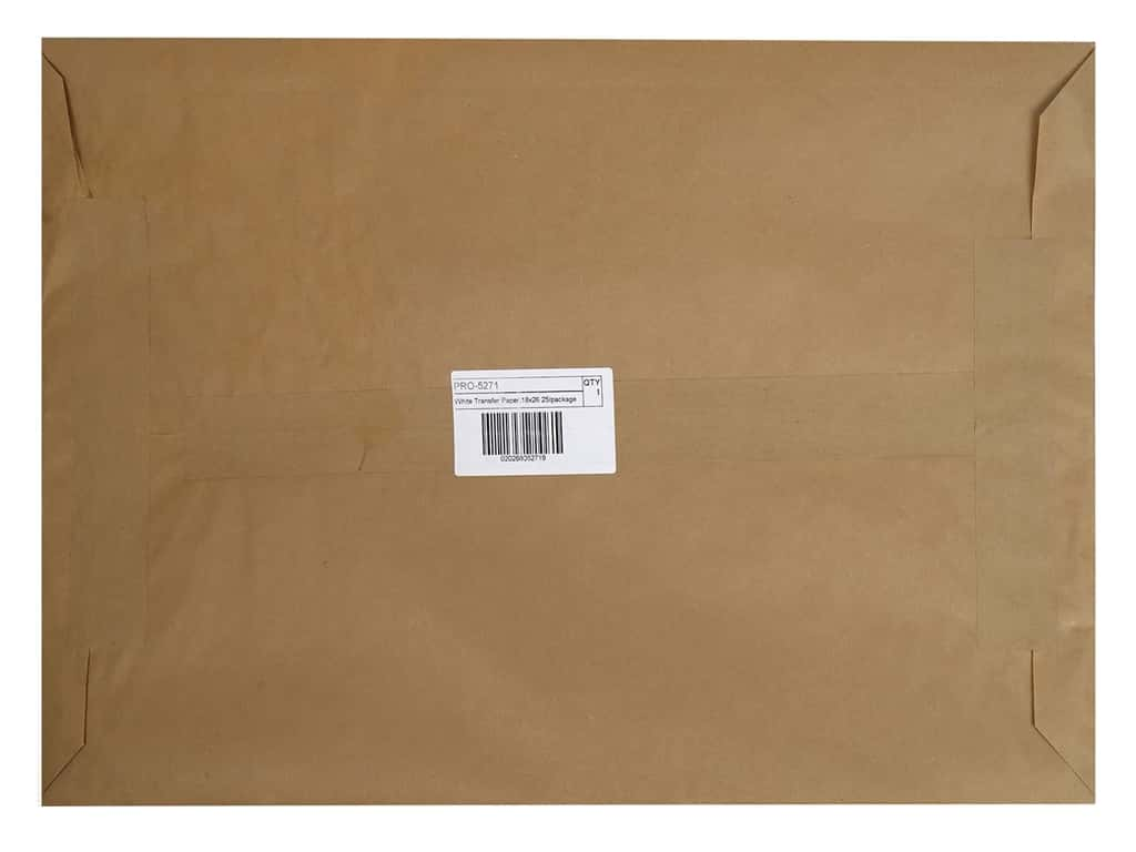 Pro Art Tracing Paper Carbon Transfer 18 in. x 26 in. White 25 pc