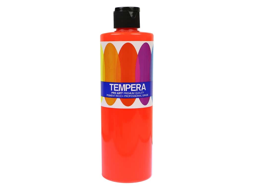 Pro Art Liquid Tempera Paint 16 oz. Fluorescent Red