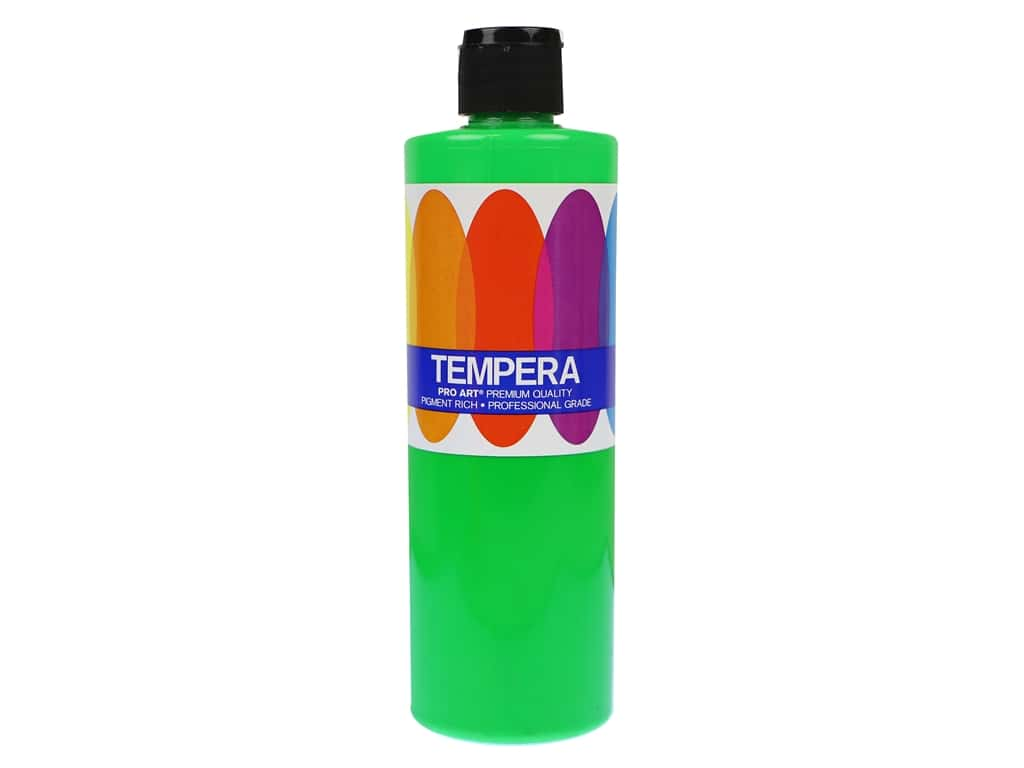 Pro Art Liquid Tempera Paint 16 oz. Fluorescent Green