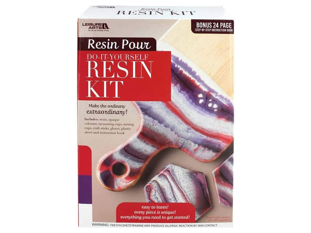 Leisure Arts Resin Pour Kit Red