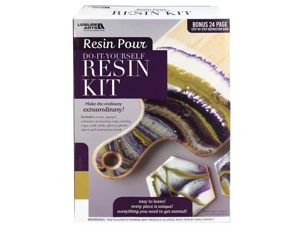 Leisure Arts Resin Pour Kit Purple
