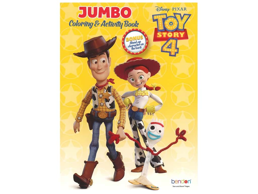 Bendon Jumbo Coloring & Activity Book Toy Story 4