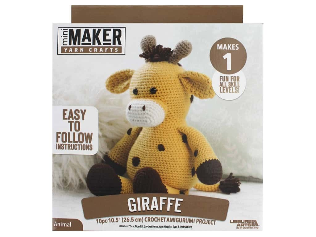 Leisure Arts Mini Maker Amigurumi Kit - Giraffe