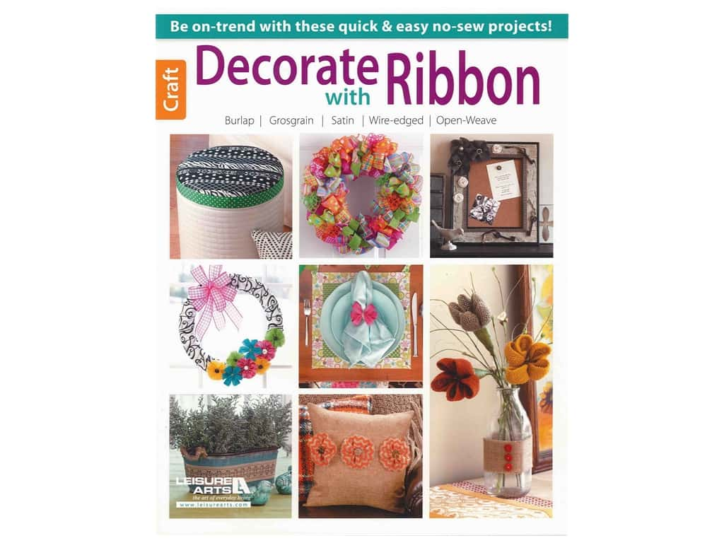 Leisure Arts Decorate With Ribbon Book