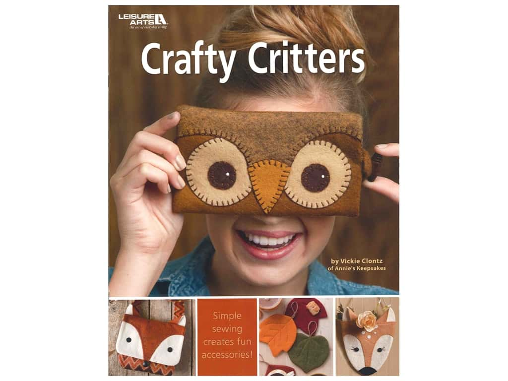 Leisure Arts Crafty Critters Book