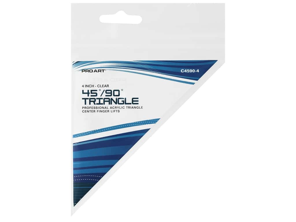Pro Art Triangle 4 in. Finger Lift 45/90 Degree Clear