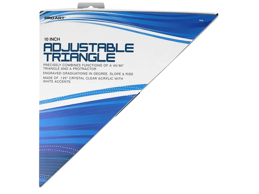Pro Art Triangle 10 in. Adjustable With Magnifier