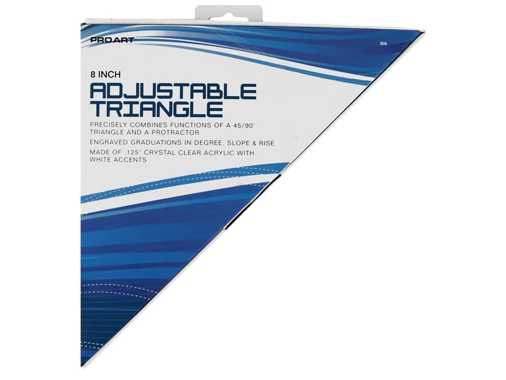 Pro Art Triangle 8 in. Adjustable With Magnifier