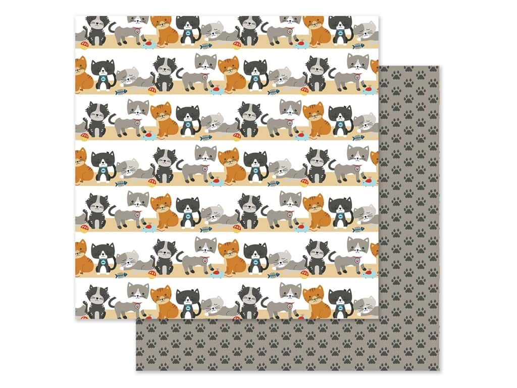 Echo Park Collection I Love My Cat Paper 12 in. x 12 in. Purrfect Day (25 pieces)