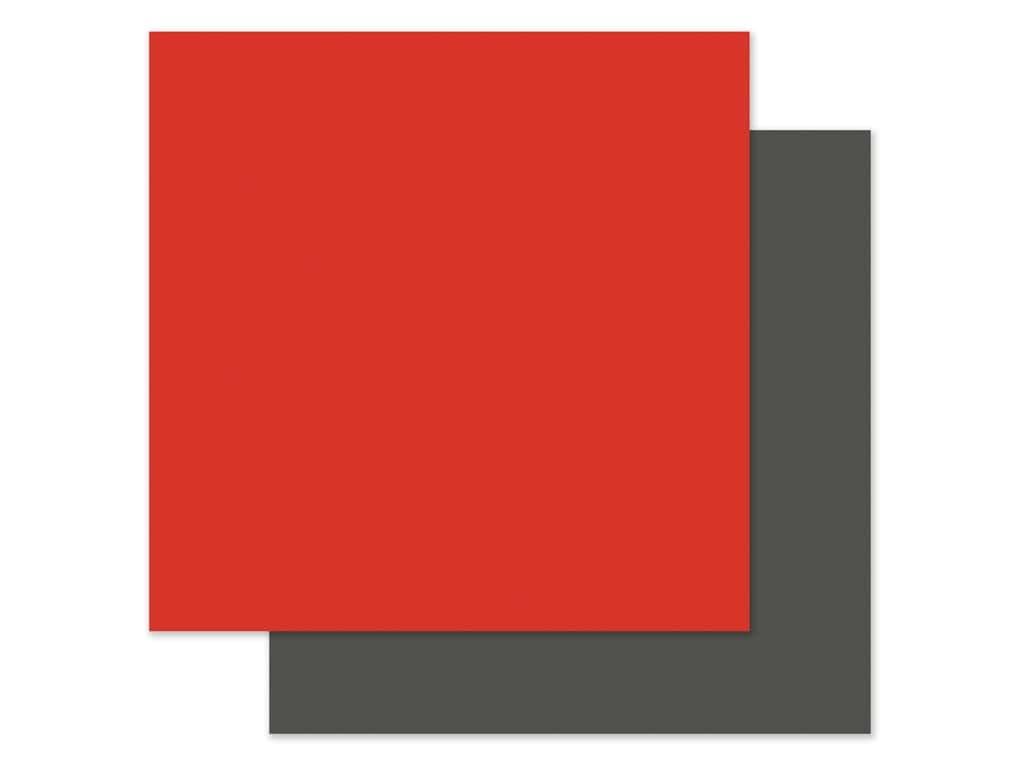 Echo Park Collection I Love My Cat Paper 12 in. x 12 in. Red/Grey (25 pieces)