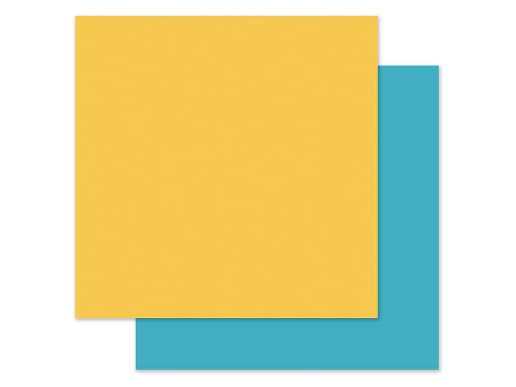 Echo Park Collection I Love My Cat Paper 12 in. x 12 in. Yellow/Light Blue (25 pieces)