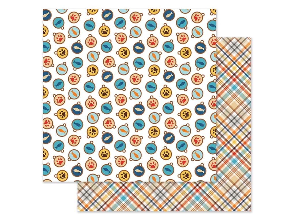 Echo Park Collection I Love My Cat Paper 12 in. x 12 in. Tags (25 pieces)