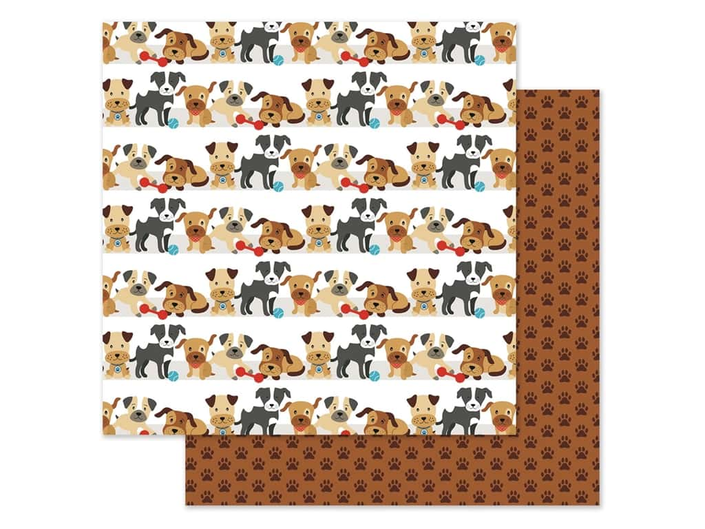 Echo Park Collection I Love My Dog Paper 12 in. x 12 in. Go Fetch (25 pieces)