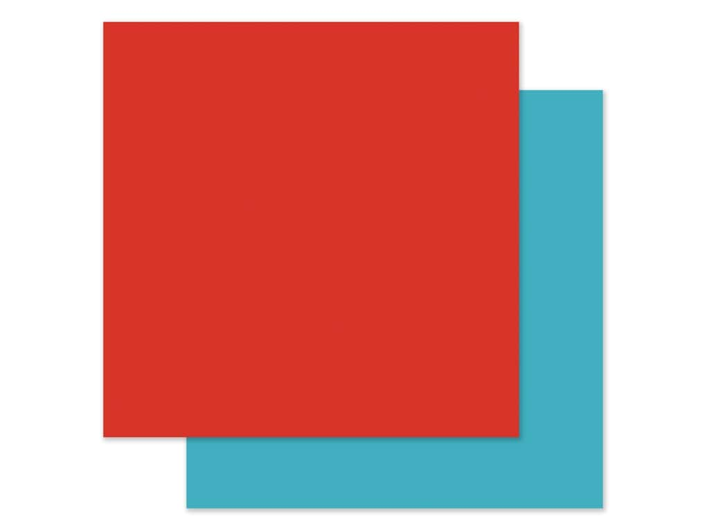 Echo Park Collection I Love My Dog Paper 12 in. x 12 in. Red/Light Blue (25 pieces)