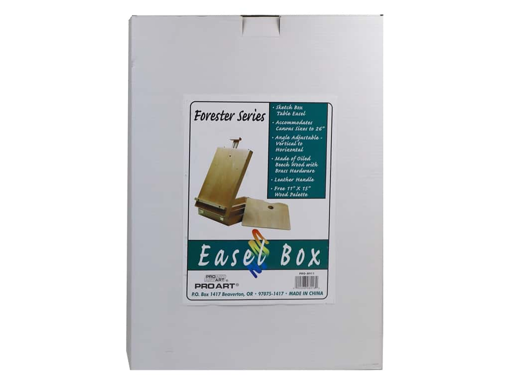 Pro Art Sketch Box Table Easel 13 x 17 x 4 in.