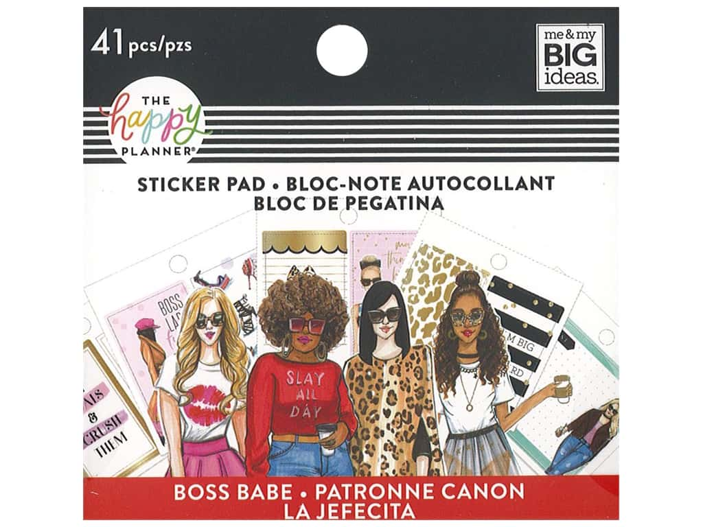 Me&My Big Ideas Happy Planner Rongrong Sticker Pad Tiny Boss Babe