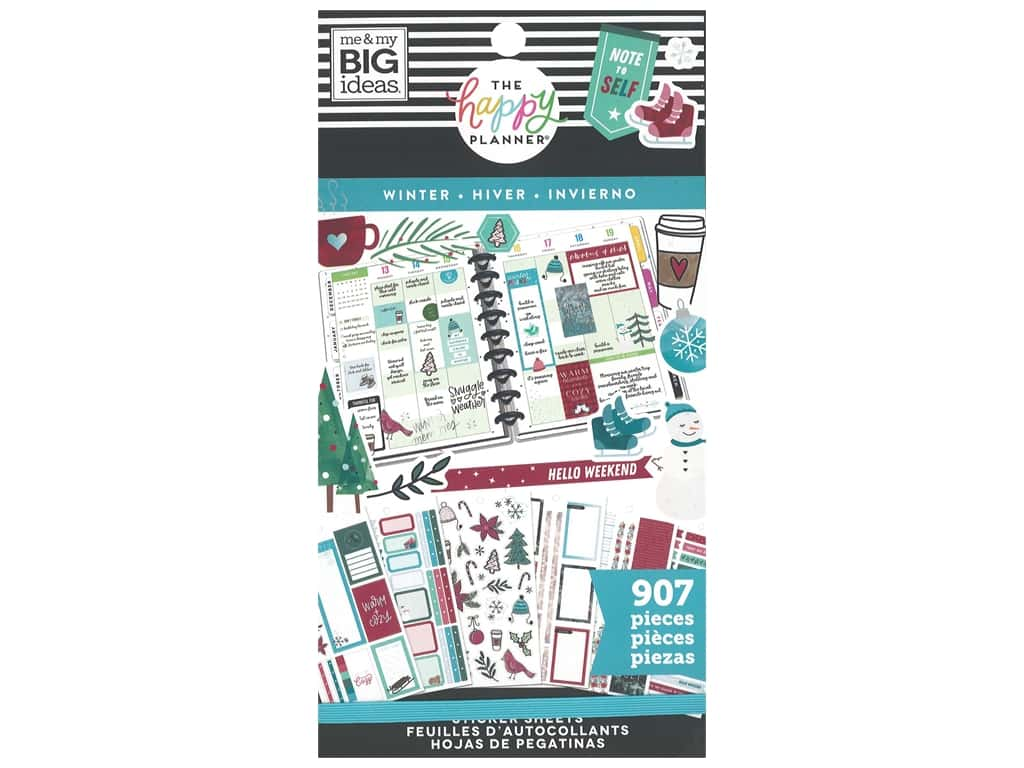 Me&My Big Ideas Happy Planner Sticker Classic Value Pack Winter