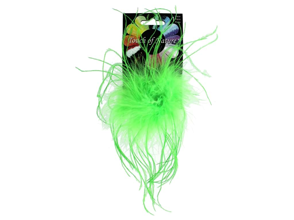Midwest Design Clip Ostrich Fluffy 4 in. Fluorescent Lime