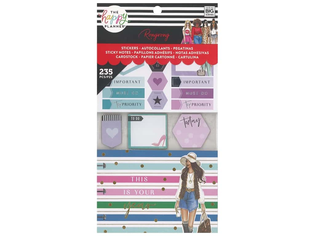 Me&My Big Ideas Happy Planner RongRong Accessory Pack Multi