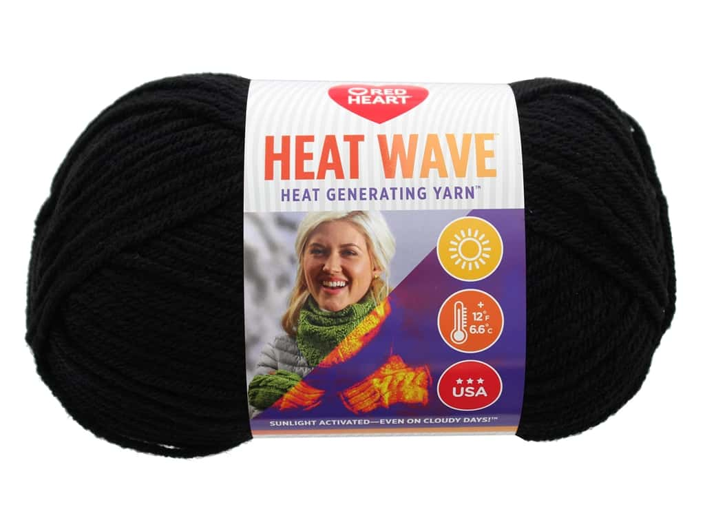 Red Heart Heat Wave Yarn 198 yd. #0212 Summer Night (3 skeins)