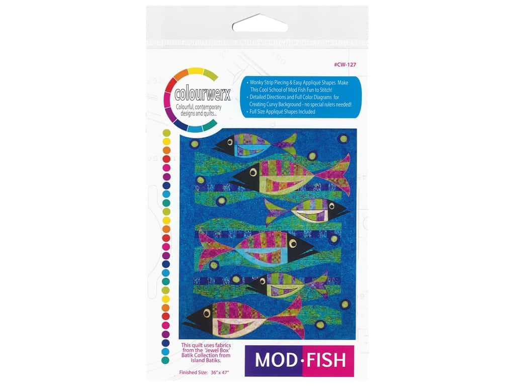 Colourwerx Mod Fish Pattern