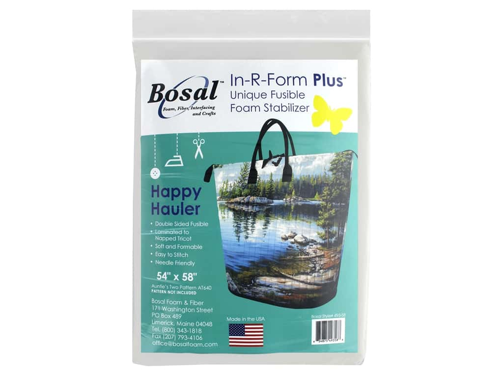 "Bosal In R Form Foam Stabilizer Plus Fusible Double Side 54""x 58"" Happy Hauler (24 pieces)"