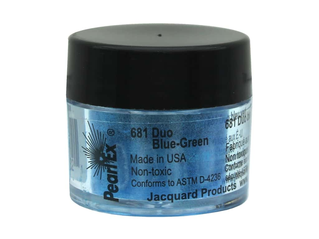 Jacquard Pearl-Ex Pigment 0.11 oz. Duo Blue-Green