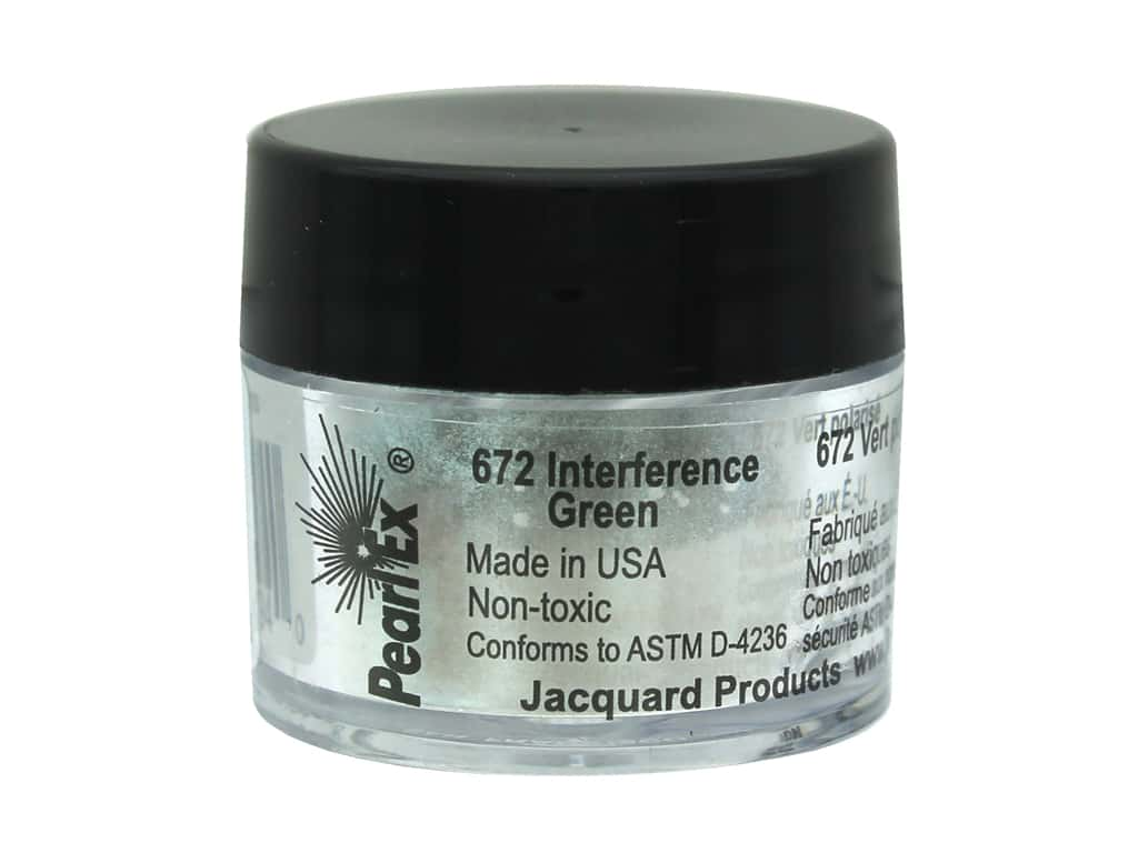 Jacquard Pearl-Ex Pigment 0.11 oz. Interference Green