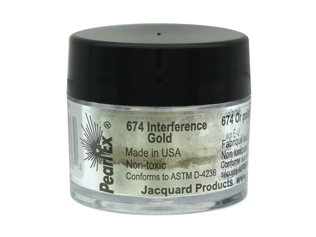 Jacquard Pearl-Ex Pigment 0.11 oz. Interference Gold