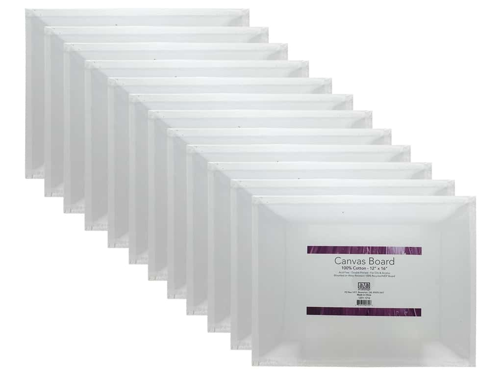 Art Advantage Canvas Board Recycled MDF 12 in. x 16 in. 12 pc