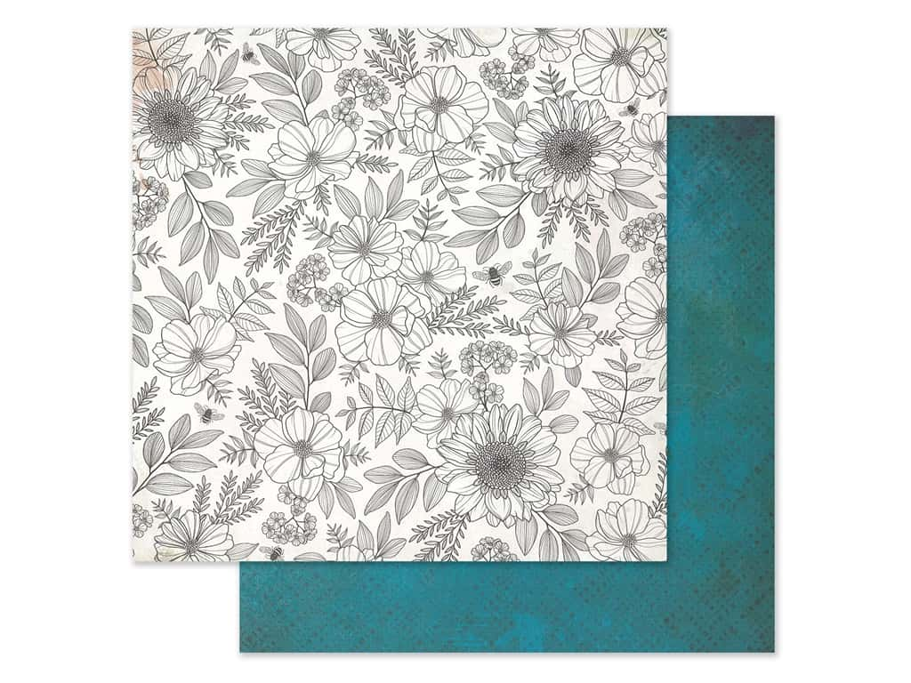 American Crafts Collection Vicki Boutin Wildflower & Honey Paper 12 in. x 12 in. Full Bloom (25 pieces)