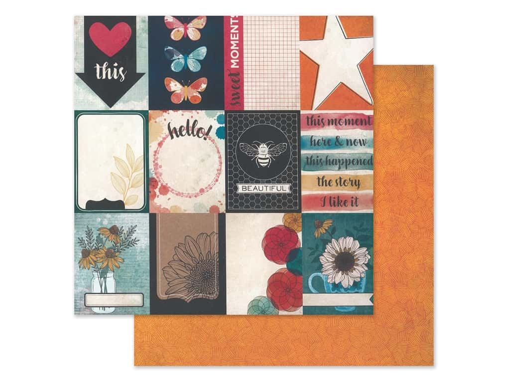 American Crafts Collection Vicki Boutin Wildflower & Honey Paper 12 in. x 12 in. Mingle (25 pieces)