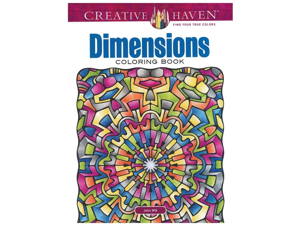 Dover Publications Creative Haven Dimensions Coloring Book