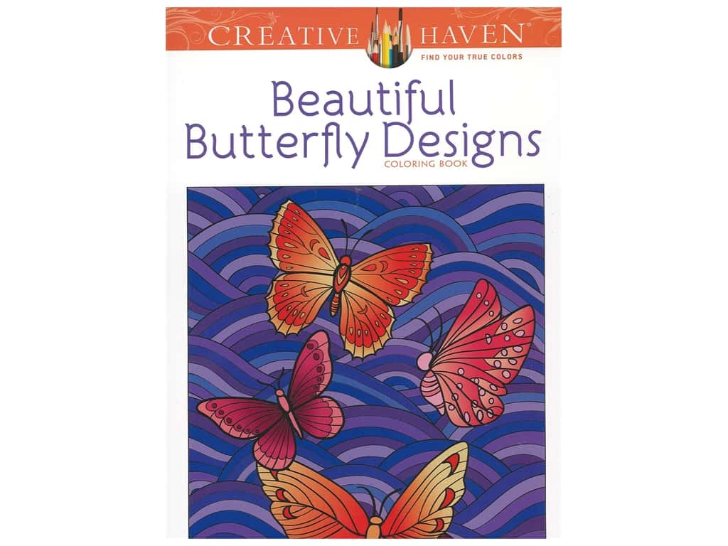 Dover Publications Creative Haven Beautiful Butterfly Design Coloring Book