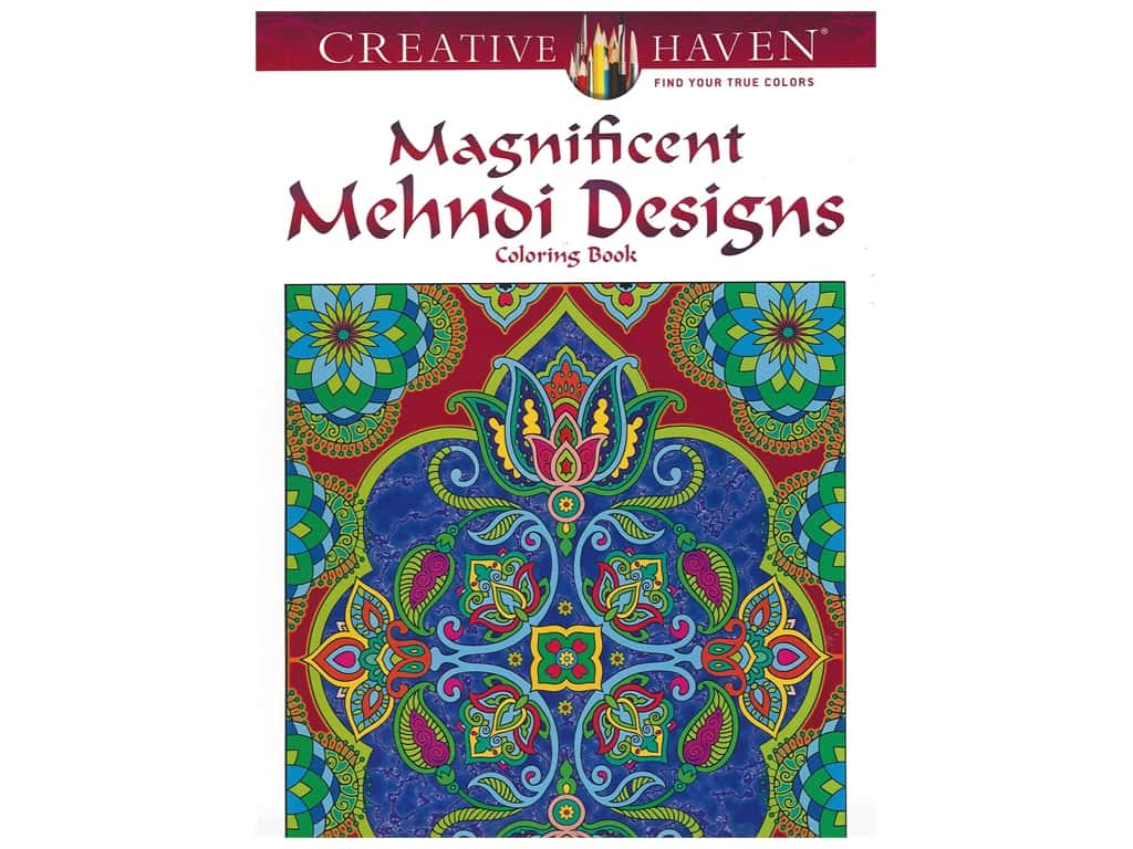 Dover Publications Creative Haven Magnificent Mehndi Design Coloring Book