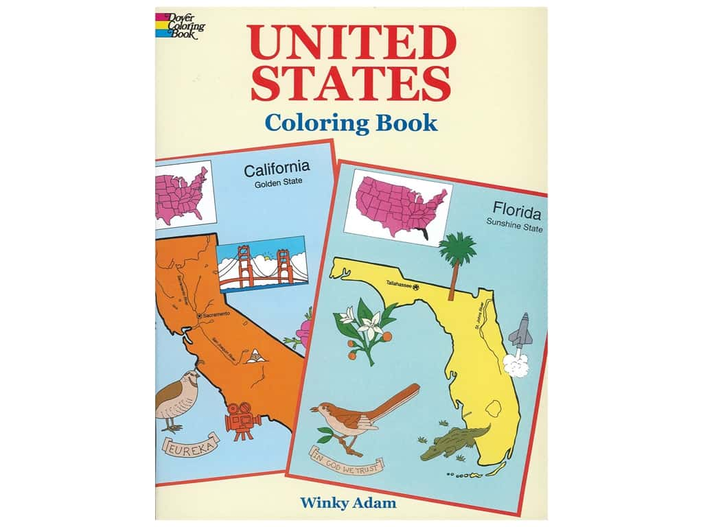Dover Publications United States Coloring Book