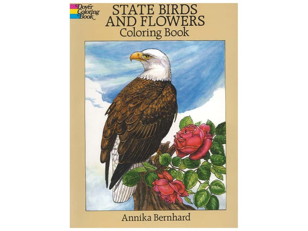 Dover Publications State Birds And Flowers Coloring Book