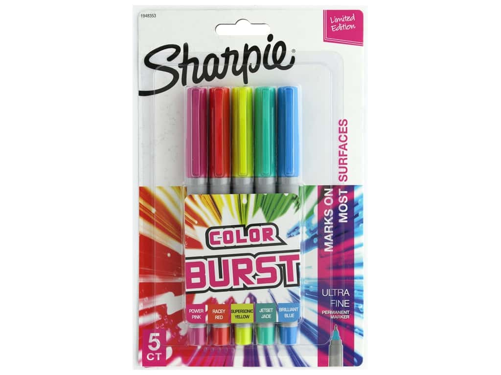 Sharpie Marker Set Permanent Ultra Fine Color Burst