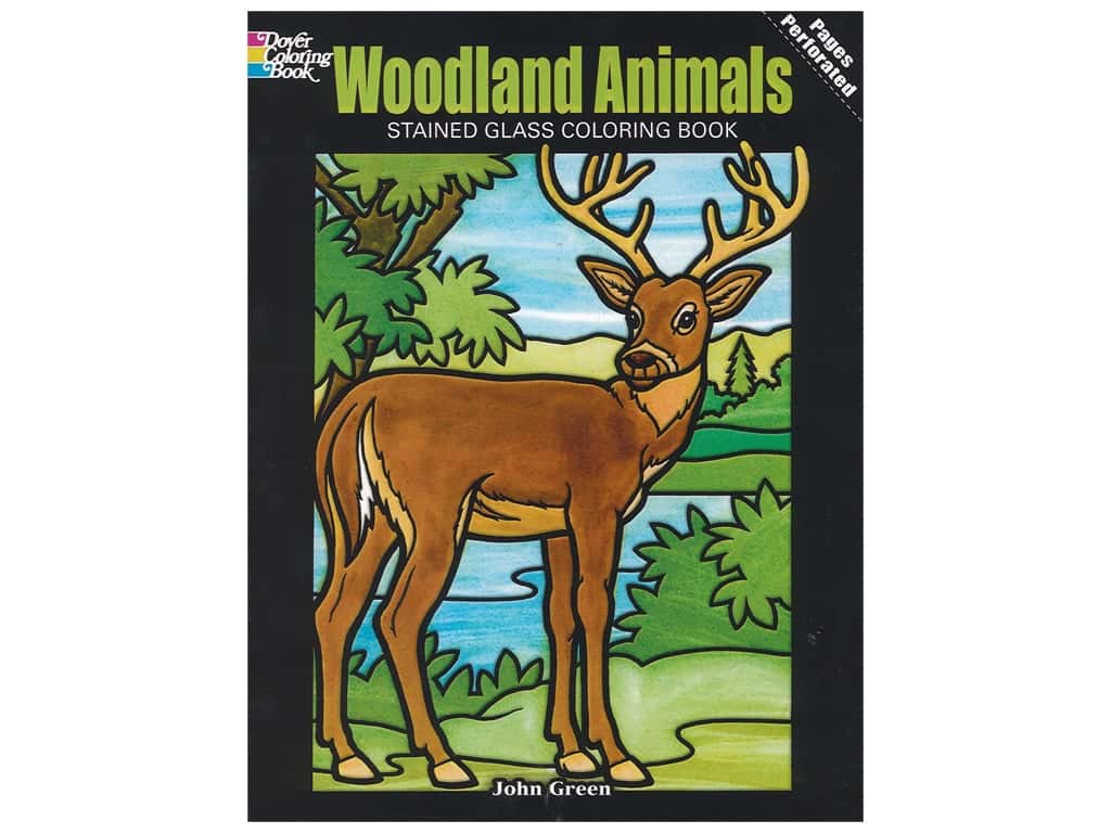 Dover Publications Woodland Animals Stained Glass Coloring Book