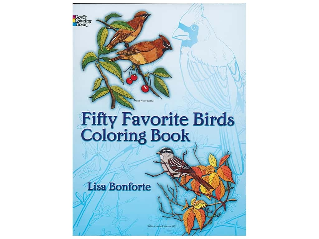 Dover Publications Fifty Favorite Birds Coloring Book