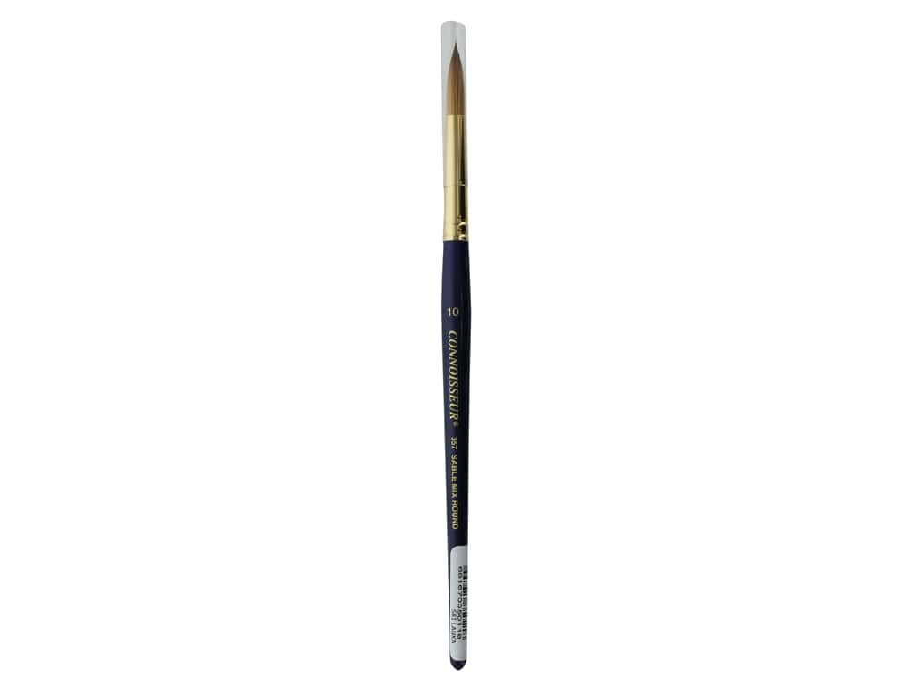 Connoisseur Red Sable/Golden Taklon Mix Brush Short Handle Round #10