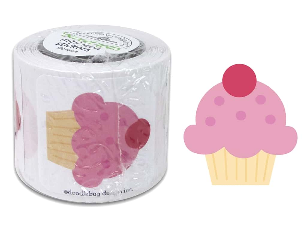 Doodlebug Sweet Things Sticker Roll Cupcakes