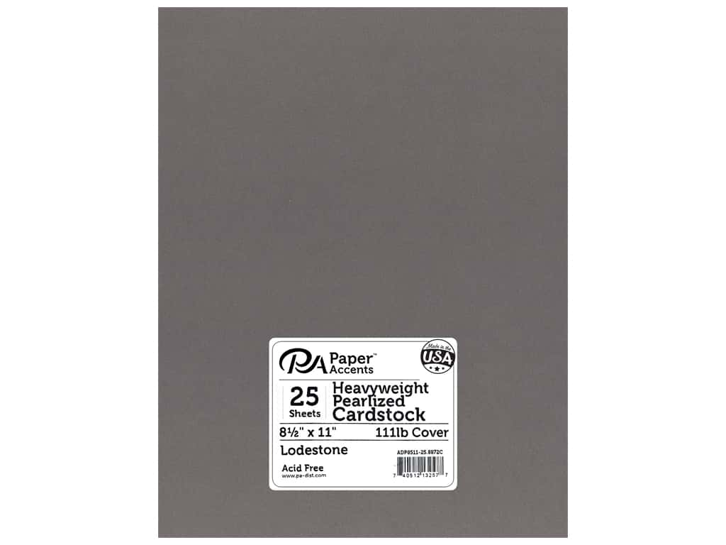 Paper Accents Cardstock 8 1/2 x 11 in. #8872C Pearlized Lodestone 25 pc.